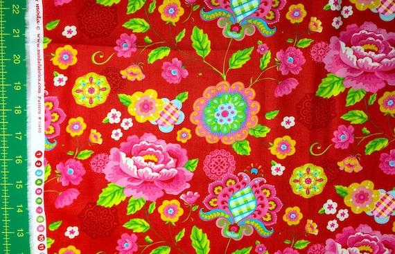 Gypsy Girl Lily Ashbury Gypsy Bloom red moda fabrics FQ or more