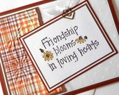 Friendship Greeting Cards:  Handmade Blank Note Cards - Blooming Friends