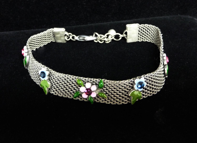 Silvertone Mesh Bracelet