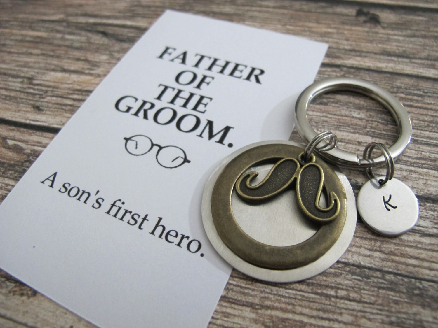 Presents For Groom From Bride: FATHER Of The GROOM Gift PERSONALIZED Keychain A Son's