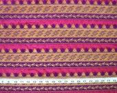 brocade fabric in magenta and purple chanderi- 1 yard - br103