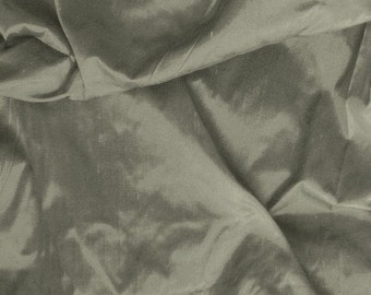 indian silk fabric, dupioni silk fabric - Grey silk fat quarter sld018
