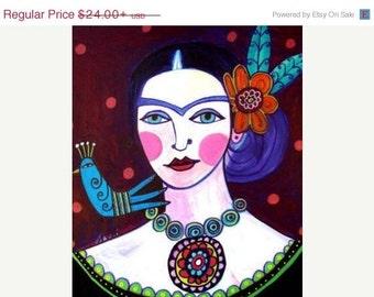Marked Down 50% - Frida Kahlo art  Art Print Poster by Heather Galler Print (HG456)