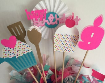 Cupcake Birthday Centerpiece - Cupcake Birthday Party -