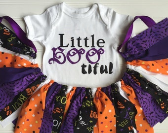 Baby Girl Halloween Outfit - Halloween Photo Prop - Baby Girl Outfit - Halloween Tutu - Little Girl Costume - Halloween Party Decor