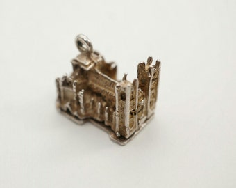 Rare Vintage Sterling York Minster Cathedral Charm - Opens