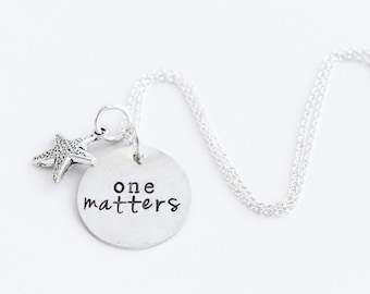One Matters starfish necklace fundraiser adoption