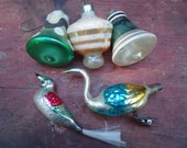 RESERVED LISTING 5 Vintage Christmas Ornaments