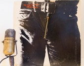 """Rolling Stones Vintage Vinyl LP 1970s British Classic Rock and Roll Record Classic """"Sticky Fingers""""( 1971 RS Records w/'working zipper')"""
