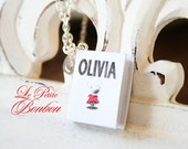 Olivia story book with initial necklace