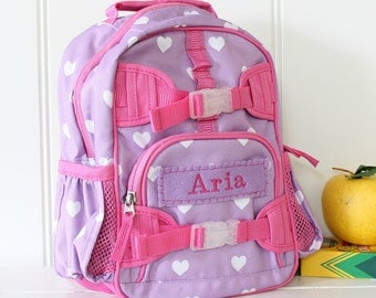 Mini Baby Backpack Pottery Barn (Mini Size) -- Lavender/Pink Heart