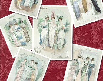 Collage - Vintage Ladies - Chic Parisien