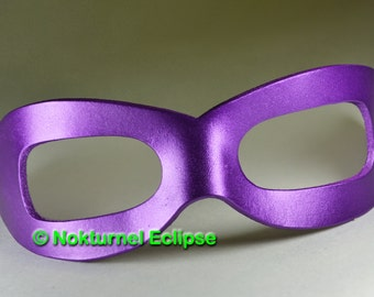 The Riddler Purple Leather Mask UNISEX Batman Gotham Villain Superhero SDCC Comic Con Cosplay Halloween Costume Available in ANY Color