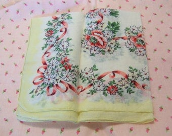 sweet soft yellow with dainty flowers hanky