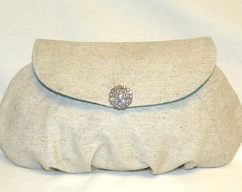 Pleated Clutch With Flap Closure