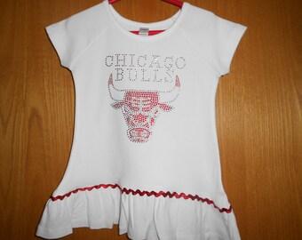 Rhinestone Chicago Bulls t Shirt