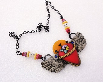 Heart Flying #2 necklace by Marie Segal