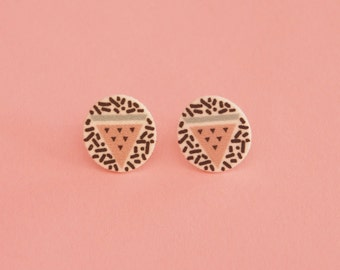 SALE Watermelon Earrings // Geometric Earrings // Graphic Earrings // Tropical Earrings // Shrink Plastic // Memphis Inspired
