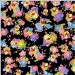 Loralie Designs Dog Gone! Dottie Dogs Black fabric - 1 yard