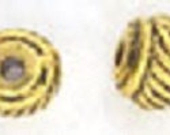 Gold Pewter Bead 5mm