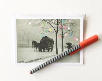 Christmas Card, Blank Greetings Card - Christmas Day