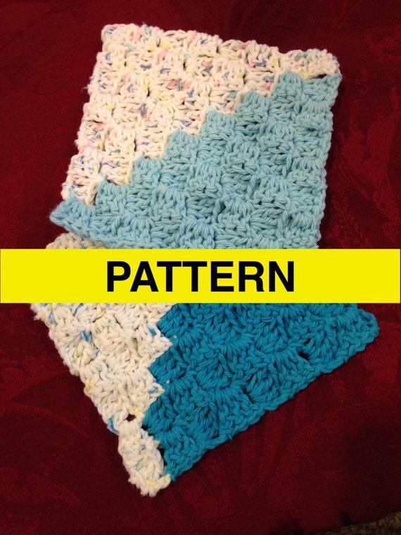 Crochet Baby Washcloth Pattern : CROCHET PATTERN Basketweave Baby Washcloth by CROCHETBYMELISSA
