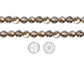 Swarovski Crystal Beads Bronze Shade 5000 Faceted Round 6mm Package of 12