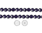 Swarovski Crystal Beads Purple Velvet 5000 Faceted Round 6mm Package of 12
