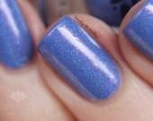 "Nail polish - ""Beautiful Patterns"" periwinkle holographic polish"