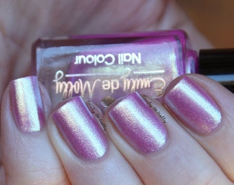 "Nail polish - ""Crystal Cavern""  lavender pink to gold duochrome foil"