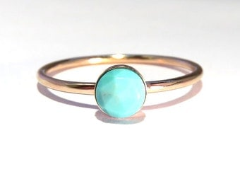 Turquoise Ring, Gold Turquoise Ring, Gold Stacking ring, Midi Ring, stacking ring, Turquoise stacking ring, december birthstone ring