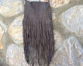 Suede Fringe Bag, Suede Tassell Bag, Natural Leather Fringe Bag, Brown, Grey/Taupe and Beige Cross Body Bag