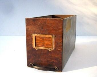 Vintage Wood and Metal Drawer / Oak and Galvanized Metal Parts Bin / Storage Organization / Storage Drawer / Parts Drawer / Old Wood Drawer