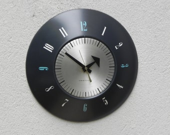 Westclox Metal Blue Silver Round Wall Clock
