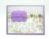 Happy Mother's Day Card, Classy Feminine Mother's Day Card, Handmade Paper Greeting Card