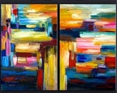 ORIGINAL abstract PAINTING texture art Large acrylic painting 48 X 36 Gallery Wrap Fine Art By Tim Lam