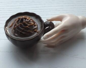 1/3 SD BJD Miniature Dark Hot Chocolate Prop