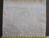 Custom Curtains Valance Roman Shade Shower Curtains in Ivory / Taupe Paisley Pattern Fabric