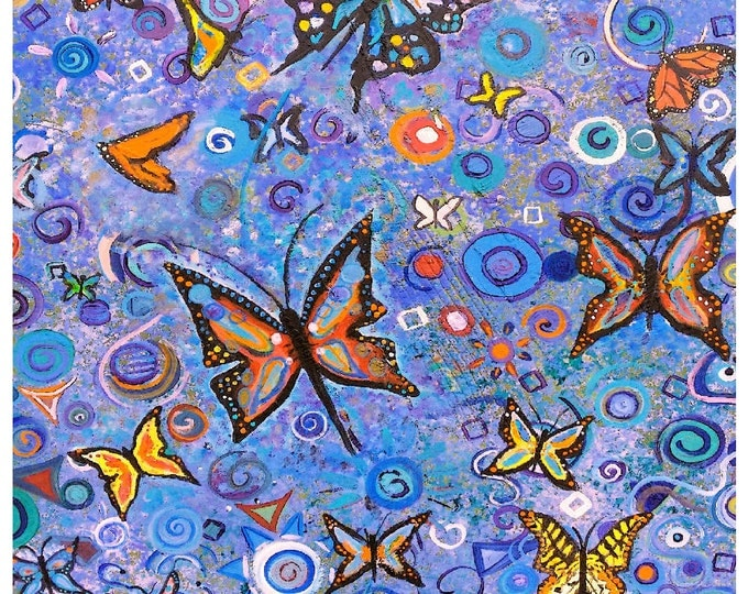Butterflies are free Print Poster