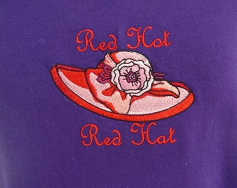 Red Hat Society T-Shirt - Red Hot Red Hat