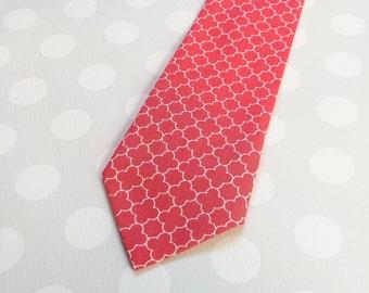 Coral Tie - Boys Tie - Boys Coral Tie - Boys Outfit - Boys Ties - Coral Necktie - Childrens Tie