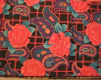 Vintage Floral Paisley Fabric