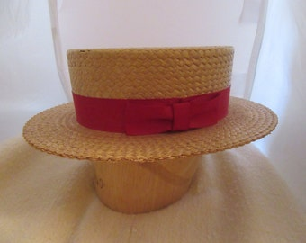 1940s Gents Gatsby Style Boaters Hat