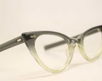 Unused Fade Cat Eye Glasses Cateye Frames Vintage Eyewear 1960s Eyeglasses New Old Stock