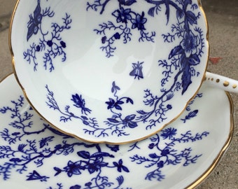 Blue And White China Tea Cup and Saucer