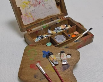 Artist's Used Filled Paint Box
