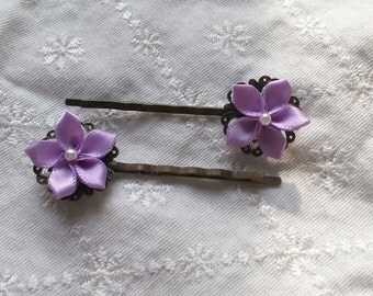 Soft violet bobby pins bobbies
