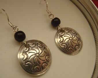 Vintage Southwestern Mandala Disc Earrings