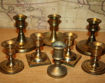 Brass Candlesticks - set of 7 - item #2000