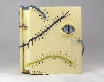 Leather Monster Book // White Walker Journal Artist Book